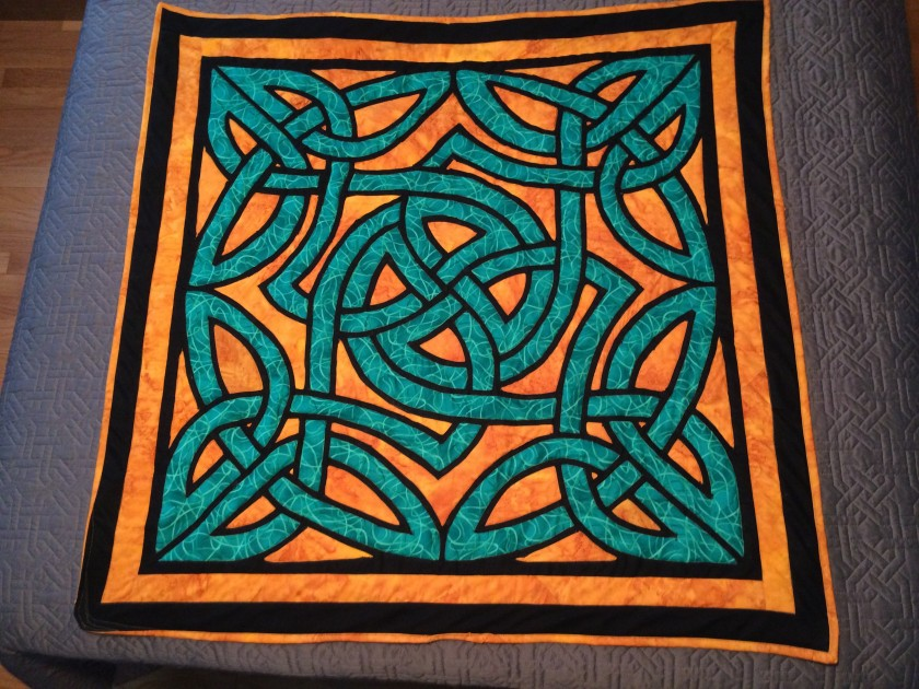 "Celtic Knot ~ July 2014 ~ 40"" x 40"" ~ $425"