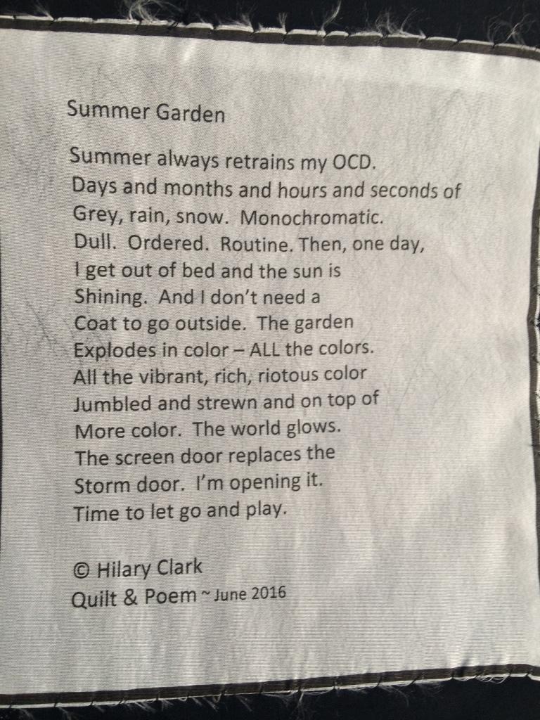 Summer Garden - Poetry Label