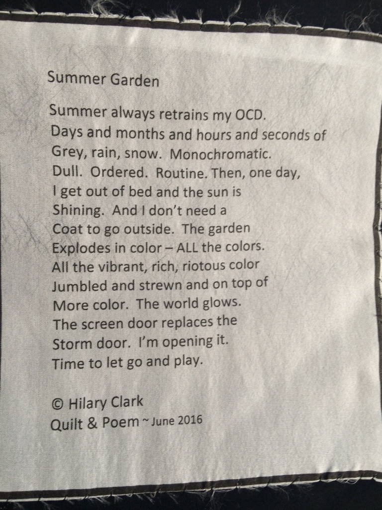 Summer Garden - Poetry Label