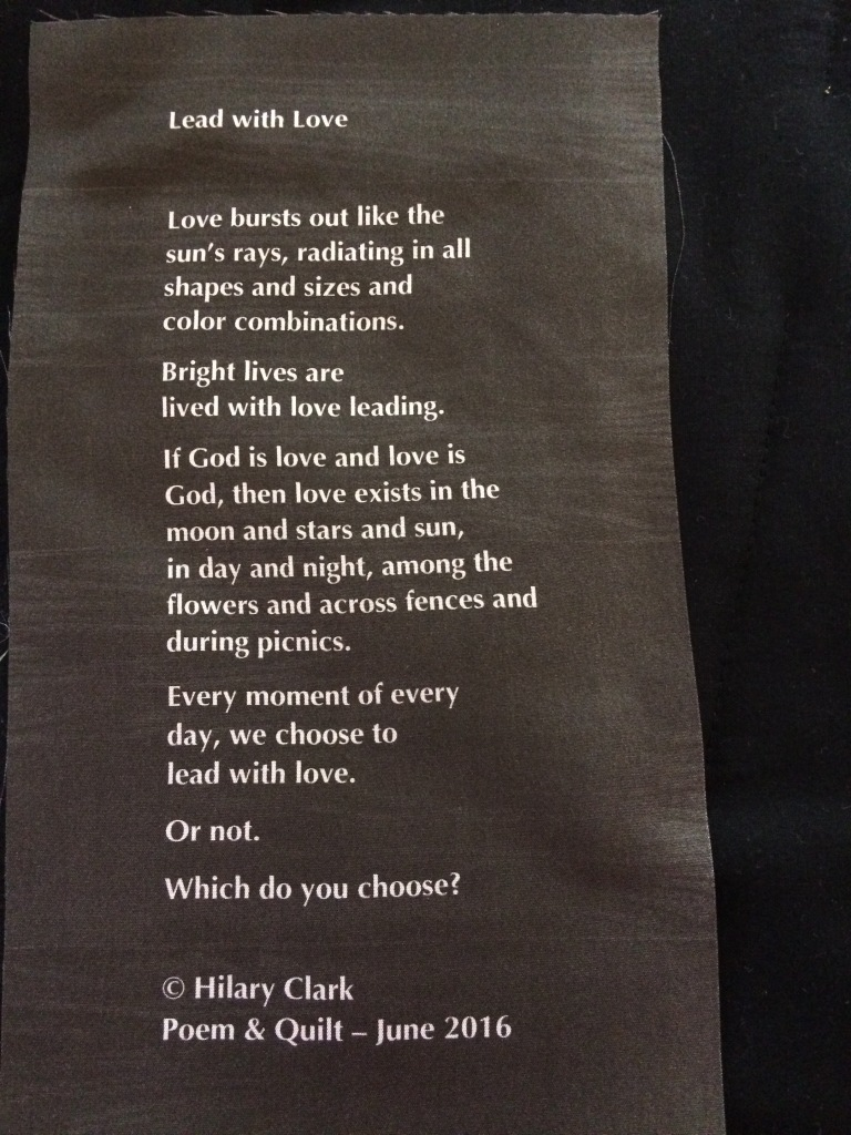 Lead with Love - Poetry Label