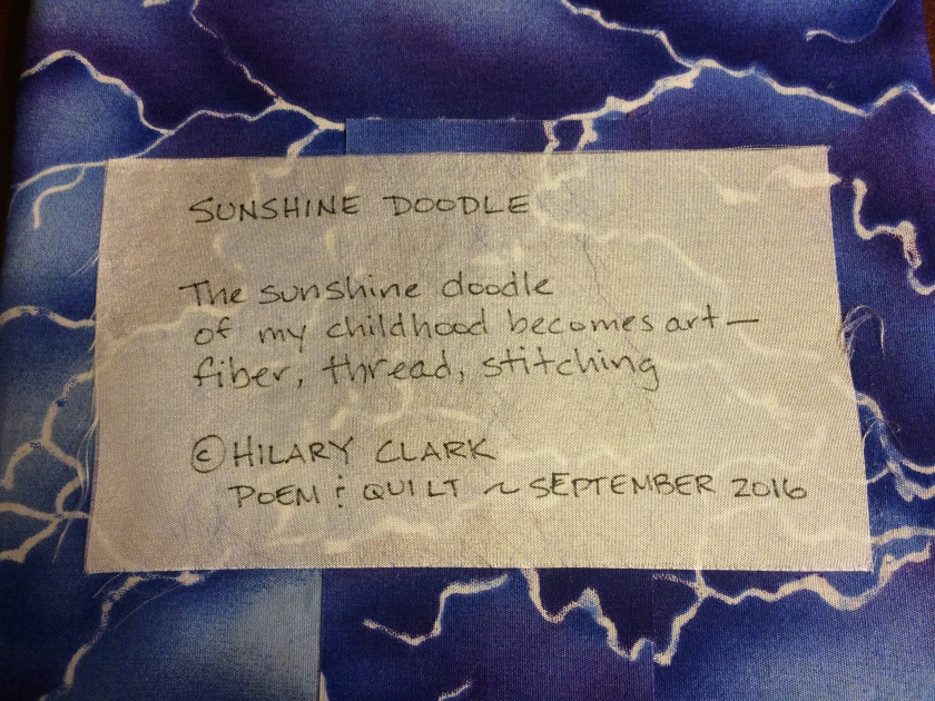 Sunshine Doodle - Poetry Label